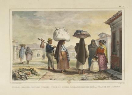 Femmes-cabocles-blanchisseuses-a-rio-de-janerio-par-jean-baptiste-debret-1834-1839 © Bnf