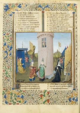Le roman de la rose, Attaque du château de Jalousie, manuscrit 3ème quart du XVe / Bnf