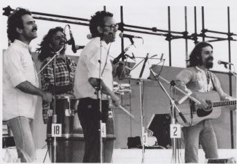 De gauche à droite : Janita Salome, Carlos Salome, José Afonso et Júlio Pereira en concert /© DR