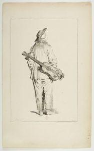 Pierrot guitariste, François Boucher d'après Antoine Watteau © BnF