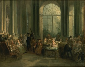 """Concert dans le salon ovale de Pierre Crozat"",  Nicolas Lencret  ©Dallas, Museum of art-MichaelL;Rosenberg Foundatio"