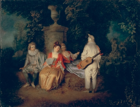 "Antoine Watteau,""La Partie Quarrée"" © The Fine Arts Museums of San Francisco, Mildred Anna Williams Coll."