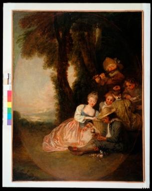 """Antoine Watteau, """"La Déclaration attendue"""" © Musées d'Angers, Pierre David"""