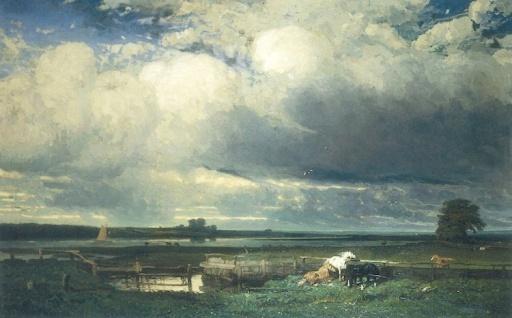 """Jules Dupré, """"Environs de Southampton"""", 1835 © Henri Delage / Musée d'Art et d'Histoire Louis Senlecq"""