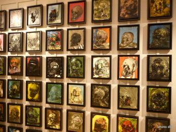 """Ronan Barrot, """"Vanités"""" (365 crânes) 1995-2012 collections particulières © db"""