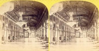 Galerie d'Apollon, vue stéréoscopique Second Empire © Musée des Avelines
