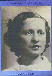 Portrait de Lucie Robin,  la mère d'Abèle-France © A-F. Ataroff