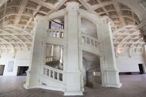 Chambord, escalier à double révolution © DR