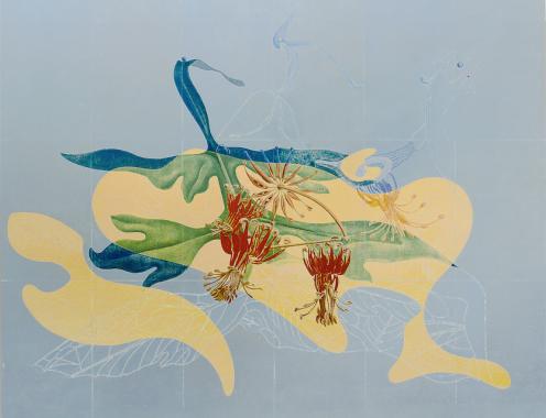 Max Ernst, Pétales et jardin de la nymphe Ancolie, 1934