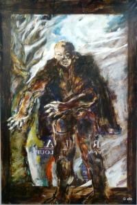 """Coskun, """"Le guetteur"""", acrylique sur toile, 2012 ©db"""