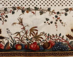 Bordure de mouchoir avec fruits, Alsace, 1789