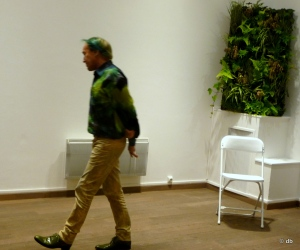Patrick Blanc, lors de l'inauguration de l'Oasis d'Aboutir © db