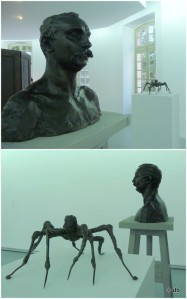 "Camille Claudel, buste de Paul / Louise Bourgeois, ""spiderman IV "" © db"