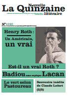 La Nouvelle Quinzaine littéraire, du 1er au 15 nov. 2013
