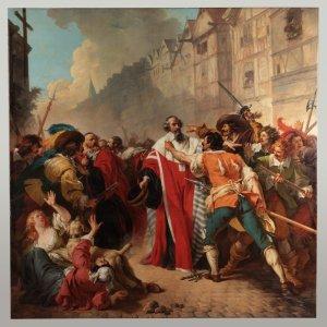 François-André VINCENT,  Molé et les factieux,  1779 © C2RMF – Cliché Thomas Clot