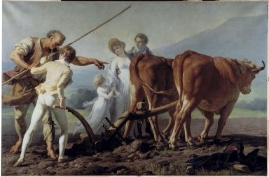 François-André VINCENT,  La leçon de labourage,  1793-1798 © Mairie de Bordeaux/Lysiane Gauthier