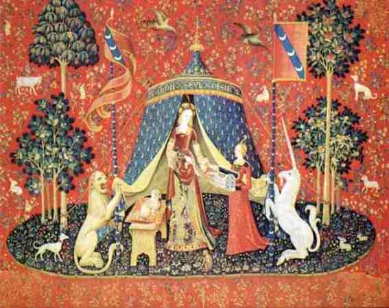 """La Dame à la licorne, """"À mon seul désir"""" © musée de Cluny"""