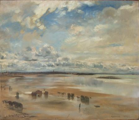 """E.Dantan, """"Ciel nuageux, plage de Paramé"""",1892/ coll. part.©DR"""