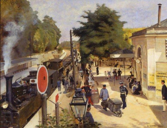 E.Dantan, La gare de Saint-Cloud, 1880 © Musée des Avelines