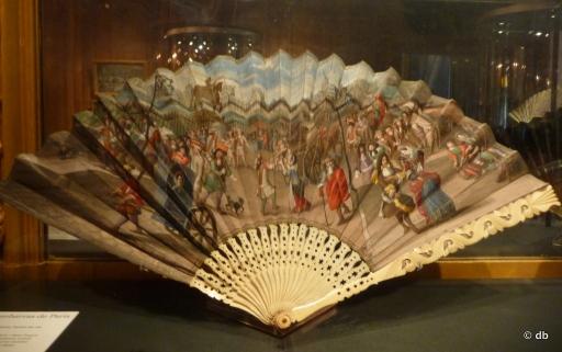 Vue du Pont-Neuf ou Embarras de Paris, vers 1680.Bielefeld, Deutsches Faechemuseum © db