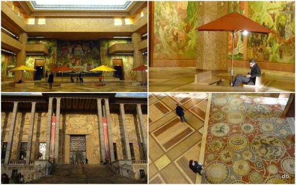Palais de la Porte Dorée, atrium et façade © db