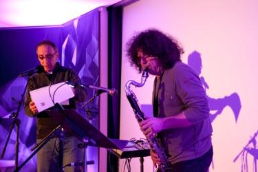"""""""Sidération 2013"""" : Bernard Chambaz et le clarinettiste Sylvain Kassap"""
