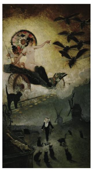 """Adolphe Willette,""""Passage de Venus devant le soleil"""", vers 1885, ©L'Isle-Adam, musée d'Art et d'Histoire Louis-Senlecq"""