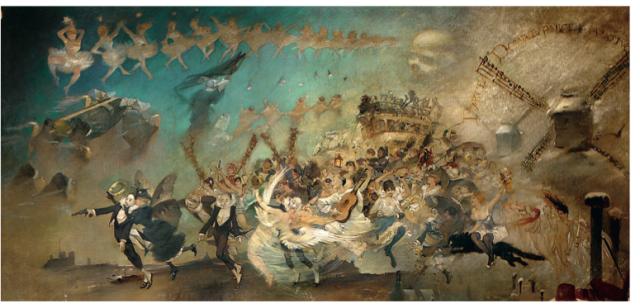 """Adolphe Willette, """"Parce Domine"""",1884 © musée de Montmartre, dépôt du musée Carnavalet"""