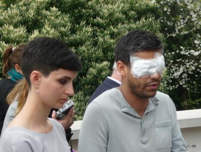 """Haroon Mirza et sa compagne, à Poissy lors de la présentation de """"The Light Hours"""" ©db"""