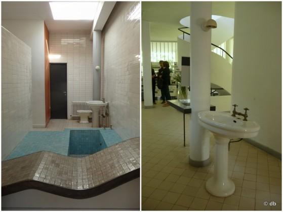 Villa Savoye, La salle de bain et le vestibule ©db