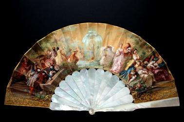 """Eventail en nacre de l'Impératrice,"""" La fontaine de Jouvence"""", v.1860/ Coll.H.Alexander © Fan Museum Londres"""