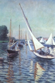 """Caillebotte, """"régates à Argenteuil"""", 1893 / Coll. part. Berhaut"""