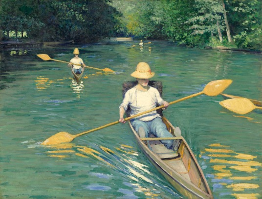 "Gustave Caillebotte, ""Périssoires sur l'Yerres"",1877 / Collection of Mr. and Mrs. Paul Mellon"