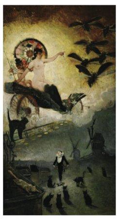 """Adolphe Willette,""""Adieu au XIXe siècle"""", vers 1885, ©L'Isle-Adam, musée d'Art et d'Histoire Louis-Senlecq"""