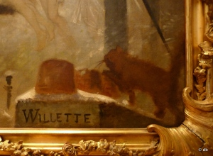 "La signature de Willette au bas de ""Parce Domine…""© db"