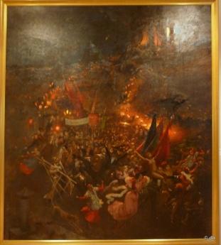 """Adolphe Willette, """"Cortège nocturne"""", 1884. Association des amis du petit palais, Genève (Suisse) Photo db"""