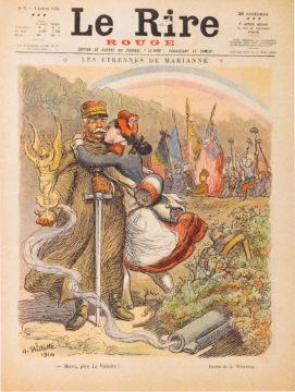 """A.Willette, """"Les étrennes de Marianne"""", Le rire rouge n°7 2 janvier 1915 Coll. privée"""