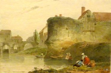 Richard Parkes Bonington (1802-1828), une tour à Vernon © db