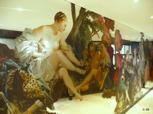 Hommage à Boucher dans l'entrée du musée © db