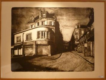 """Jean-Baptiste Sécheret, """"La rue de Paris"""", 2004, lithographie © db"""