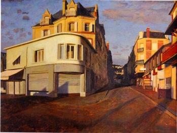 """Jean-Baptiste Sécheret, """"La rue de Paris"""", 2003, huile sur papier marouflé © Henri Delage"""