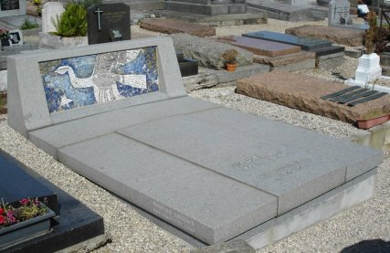 La tombe de Georges Braque, cimetière de Varengeville © DR