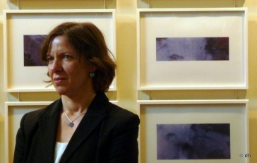 Christiane Baumgartner, lors de l'inauguration de l'exposition à l'Institut de France,  mars 2015 © db