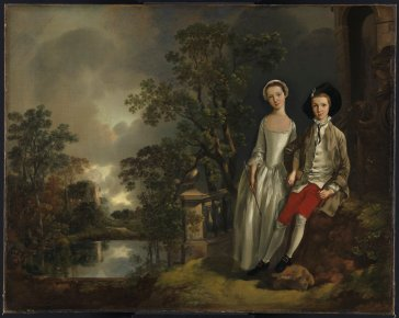 "Thomas Gainsborough  ""Heneage LIoyd et sa sœur Lucy"", vers 1750 Huile sur toile © Fitzwilliam Museum, Cambridge"