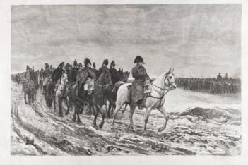 """Gravure du """"1814, Campagne de France"""" peint par Meissonier en 1864 .Coll. particulière © Ville de Poissy/Rémy-‐Pierre Ribière"""
