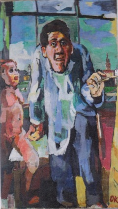 "Oskar Kokoschka, ""Autoportrait au chevalet"" ,1922 / Léopold Collection II, Vienne © Fondation Oskar Kokoschka / ADAGP, Paris 2015"