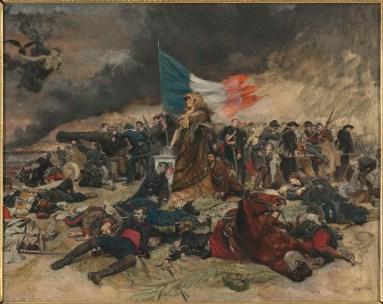 """E. Messonier, """"Le Siège de Paris (1870-‐1871)"""", allégorie,  Coll. musée d'Orsay © RMN-‐Grand Palais (musée d'Orsay) / Hervé Lewandowski"""
