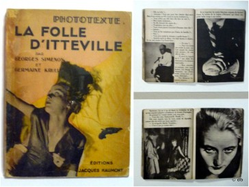 "Photo roman ""La Folle d'Itteville"" (G.Simenon) / db"