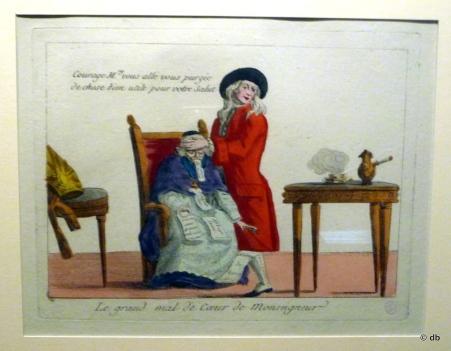 """""""Le grand mal de coeur de Monseigneur"""" (anonyme) © musée Carnavalet/photo db"""