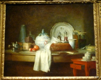 """Jean Siméon Chardin, """"La table d'office"""" dit aussi """"Les débris d'un déjeuner"""", 1763 © musée du Louvre/photo db"""